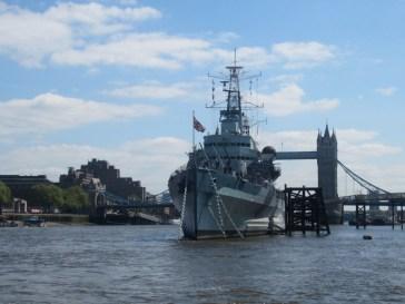 Thames path HMS Belfast