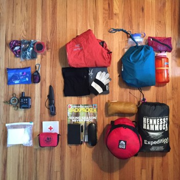 The 10 essentials, plus some other stuff
