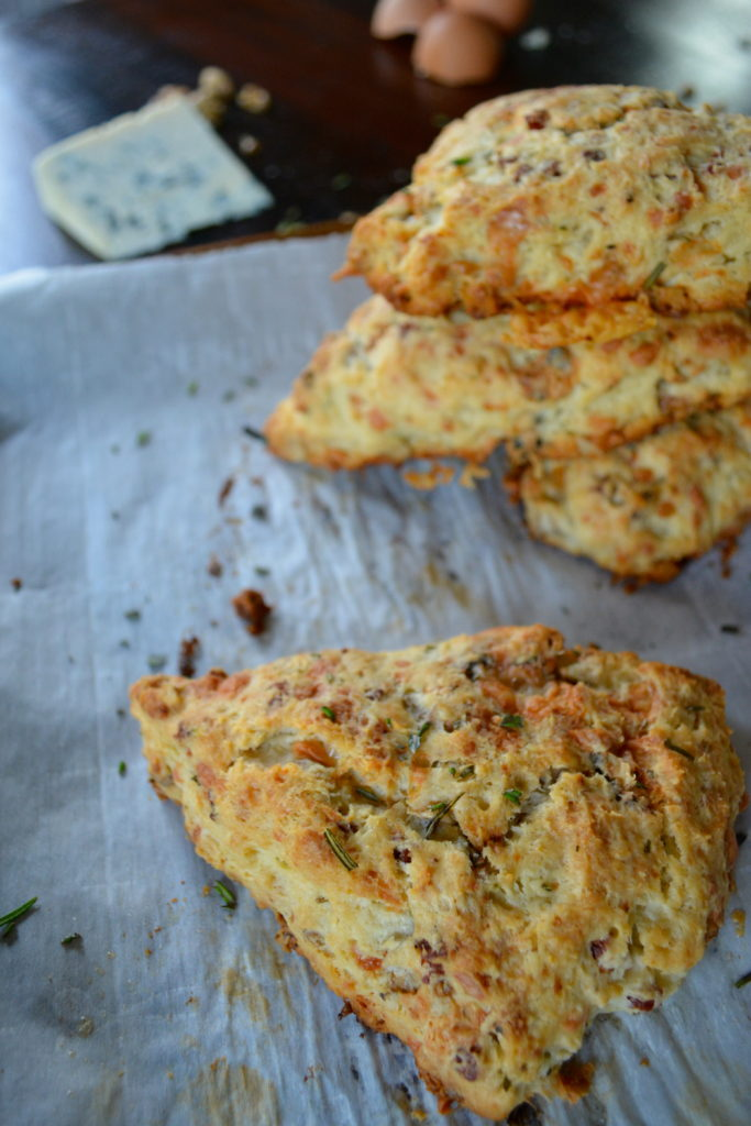 Rosemary Blue Cheese Scones with Walnuts and Pancetta