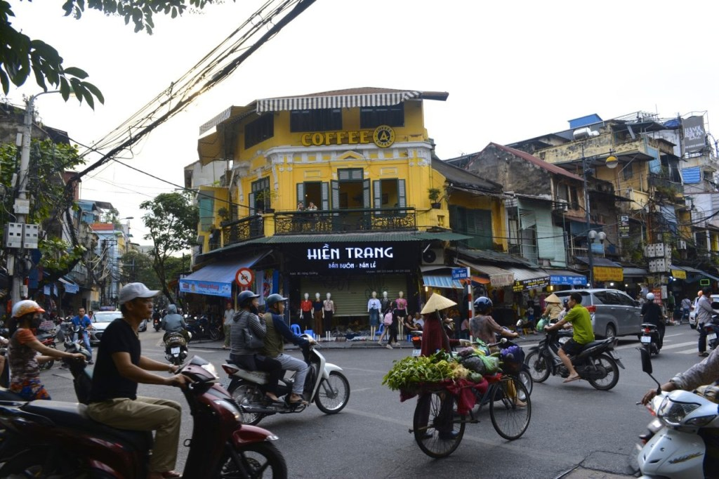 Chaotic streets of the Old Quarter in Hanoi, Vietnam
