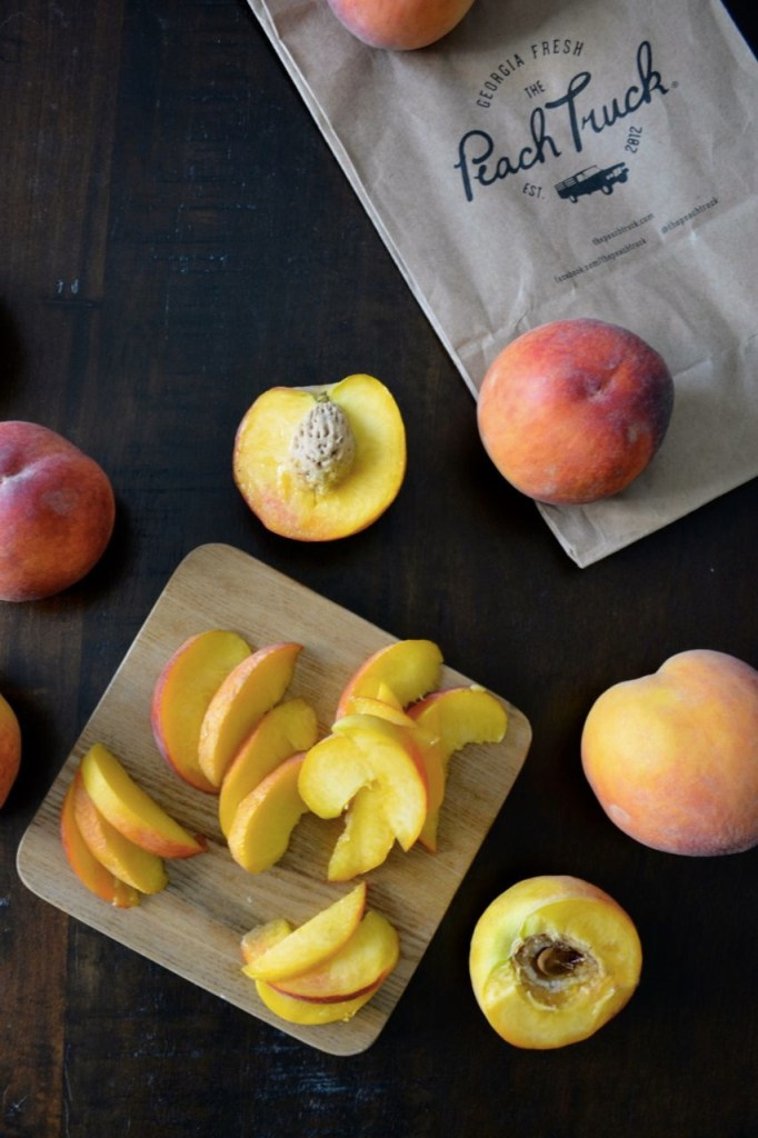 Peaches from the Peach Truck in Nashville, Tennessee