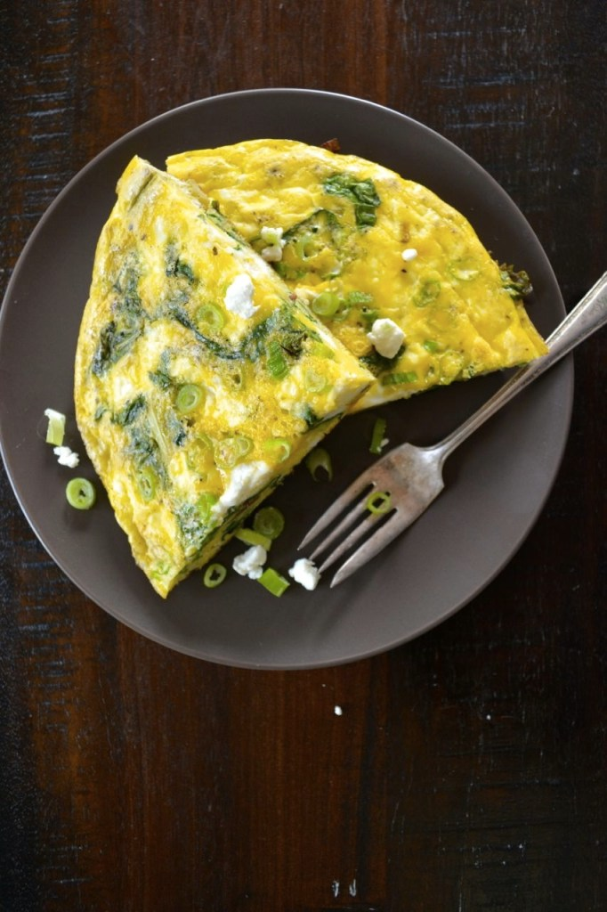 Swiss Chard and Goat Cheese Frittata
