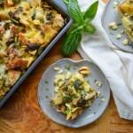 Summer Squash & Pesto Breakfast Strata