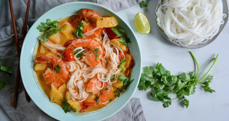 Thai Red Curry with Shrimp