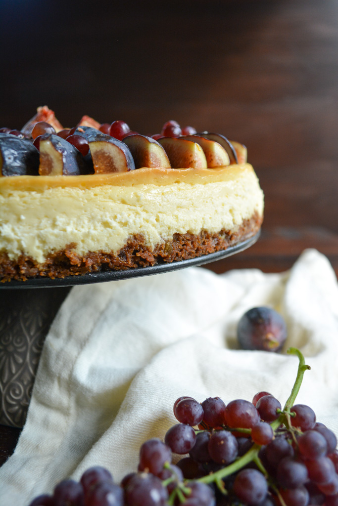 Creamy Fig & Gingersnap Cheesecake
