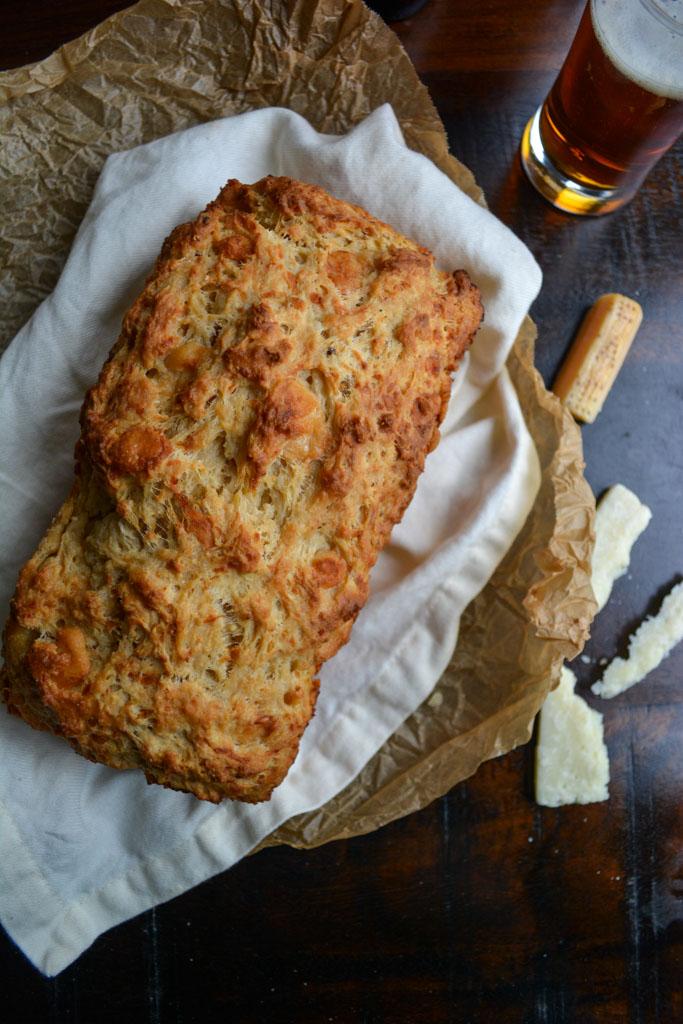 Parmesan Pumpkin Beer Bread