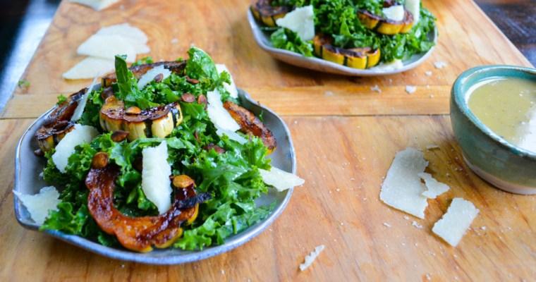 Roasted Squash Salad with Maple Tahini Dressing