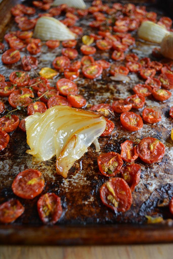 Roasted onions - Homemade Roasted Tomato Sauce