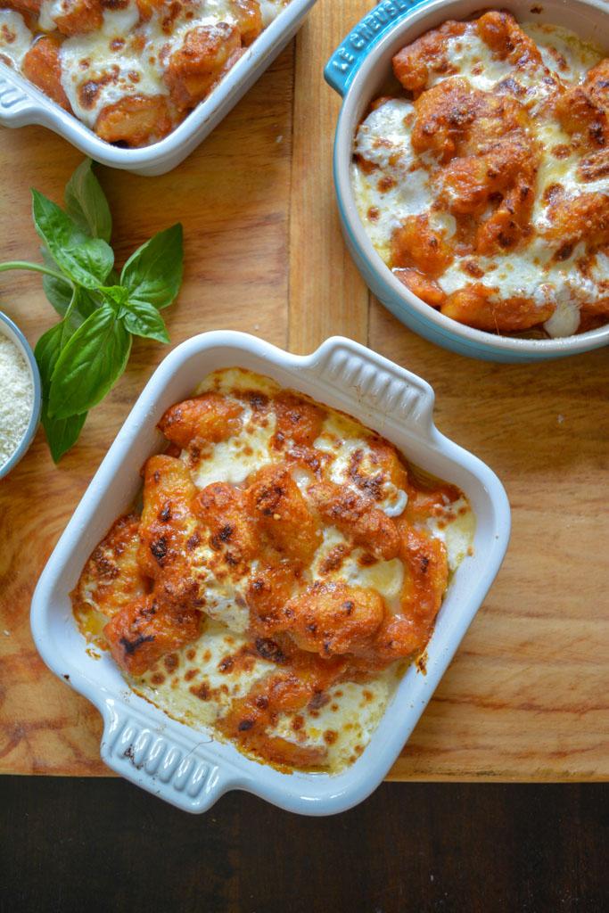 Tomato & Mozarella Baked Gnocchi