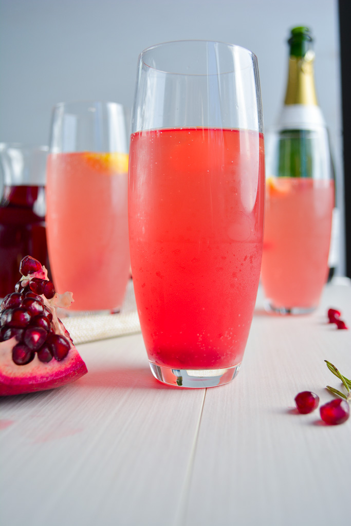 Rosemary Pomegranate French 75