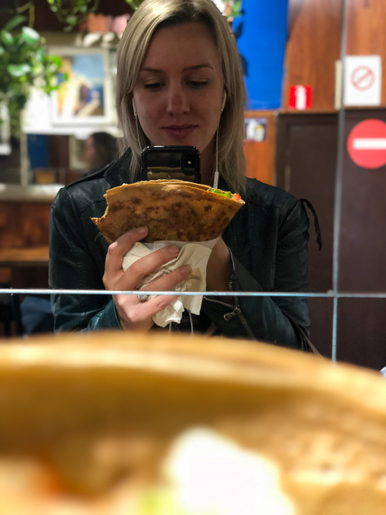 Comprehensive Guide to Paris:  Savory Crepe at Au P'tit Greque