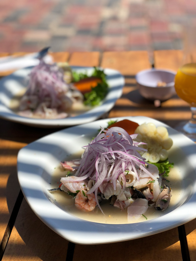 Ceviche Mixto at El Arizal in Paracas