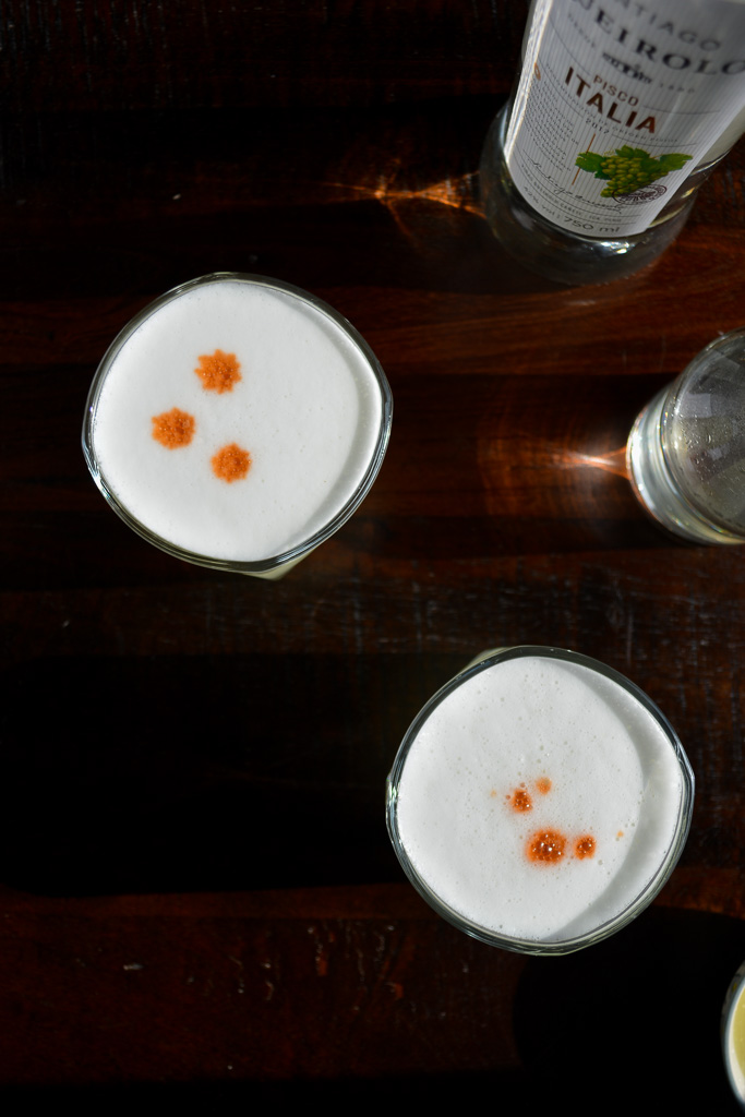 Classic Pisco Sours with Angosturo Bitters