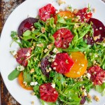 Roasted Beet Salad with Citrus & Walnut Feta Gremolata
