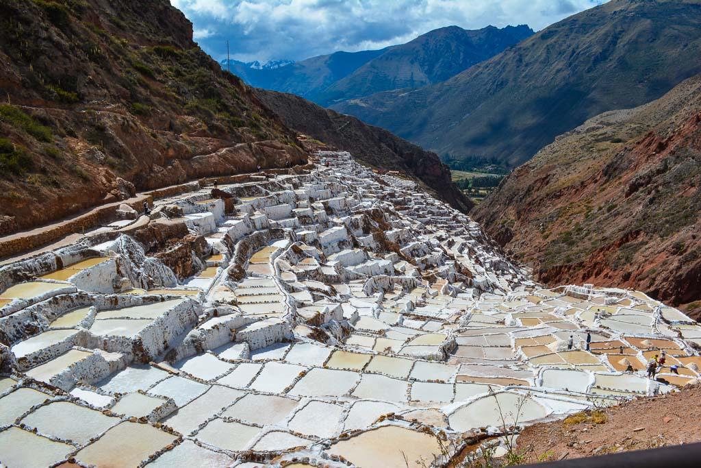 Salt mines in Maras, Perus