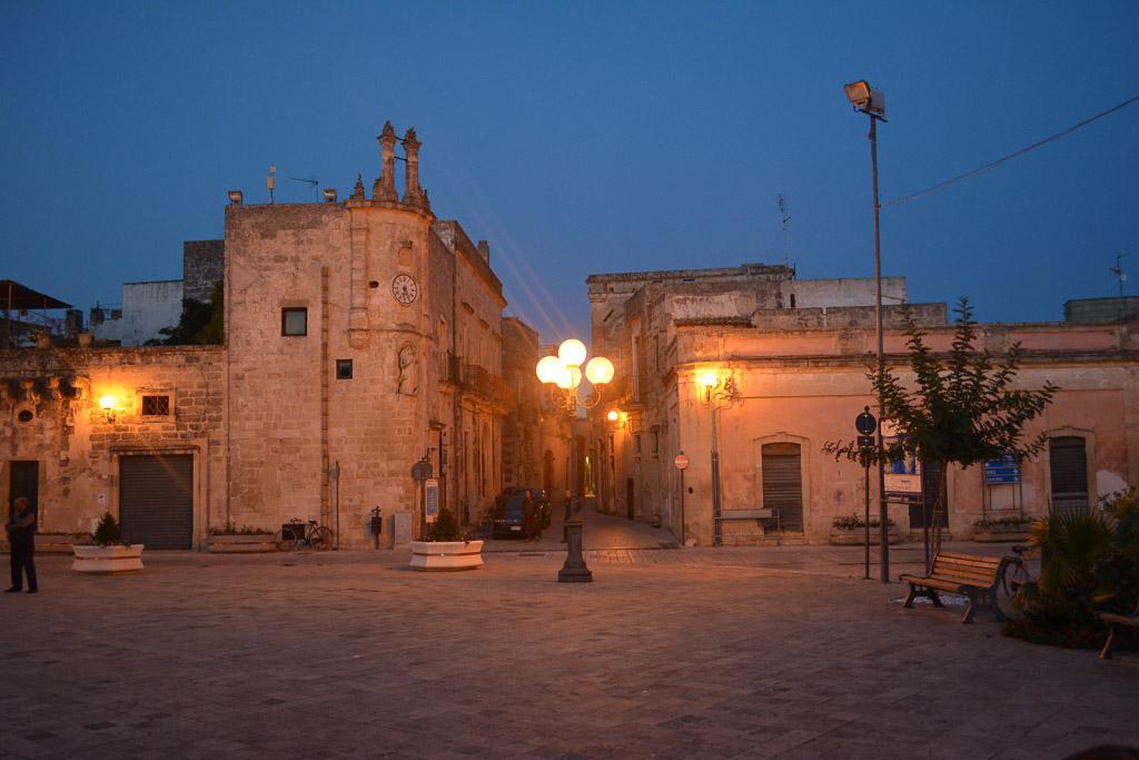 Main Piazza of Spongano in Puglia, Italy