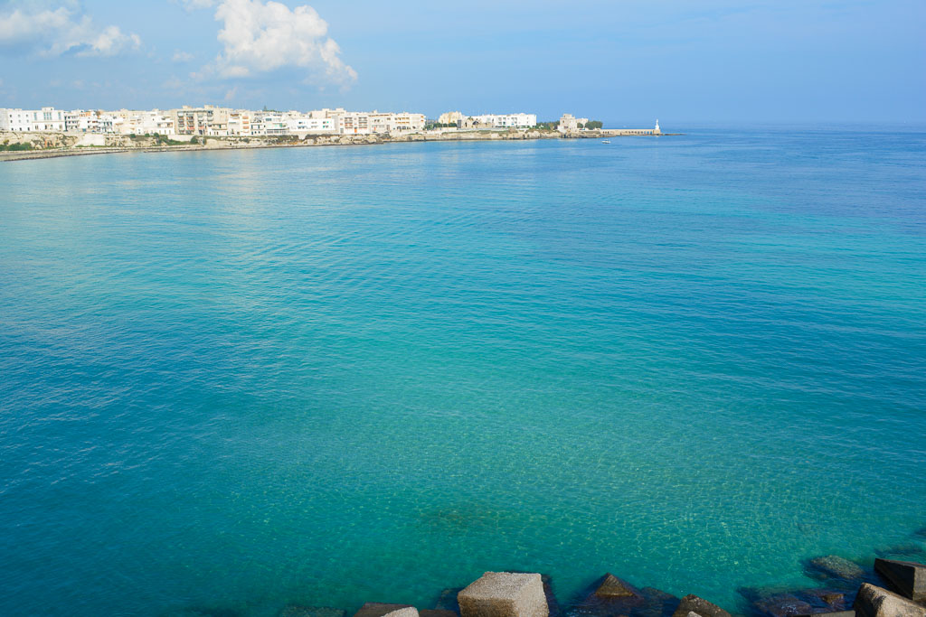 The ocean by the city of Otranto in Puglia, Italy