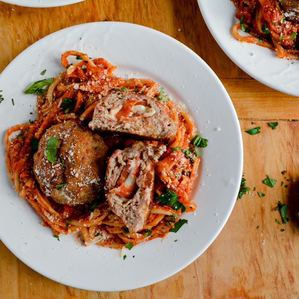 Southern Italian Stuffed Meatballs