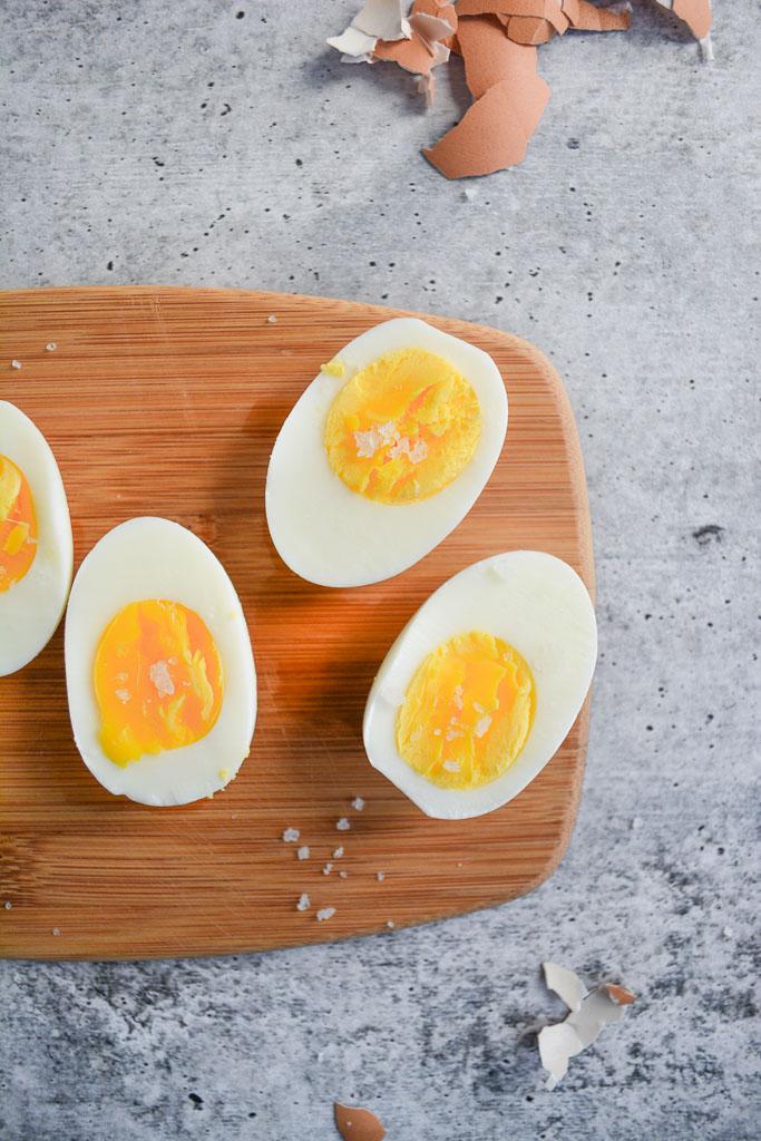 Hard Boiled Eggs with Sea Salt