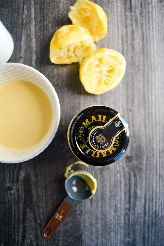Maille dijon mustard and fresh squeezed lemon juice