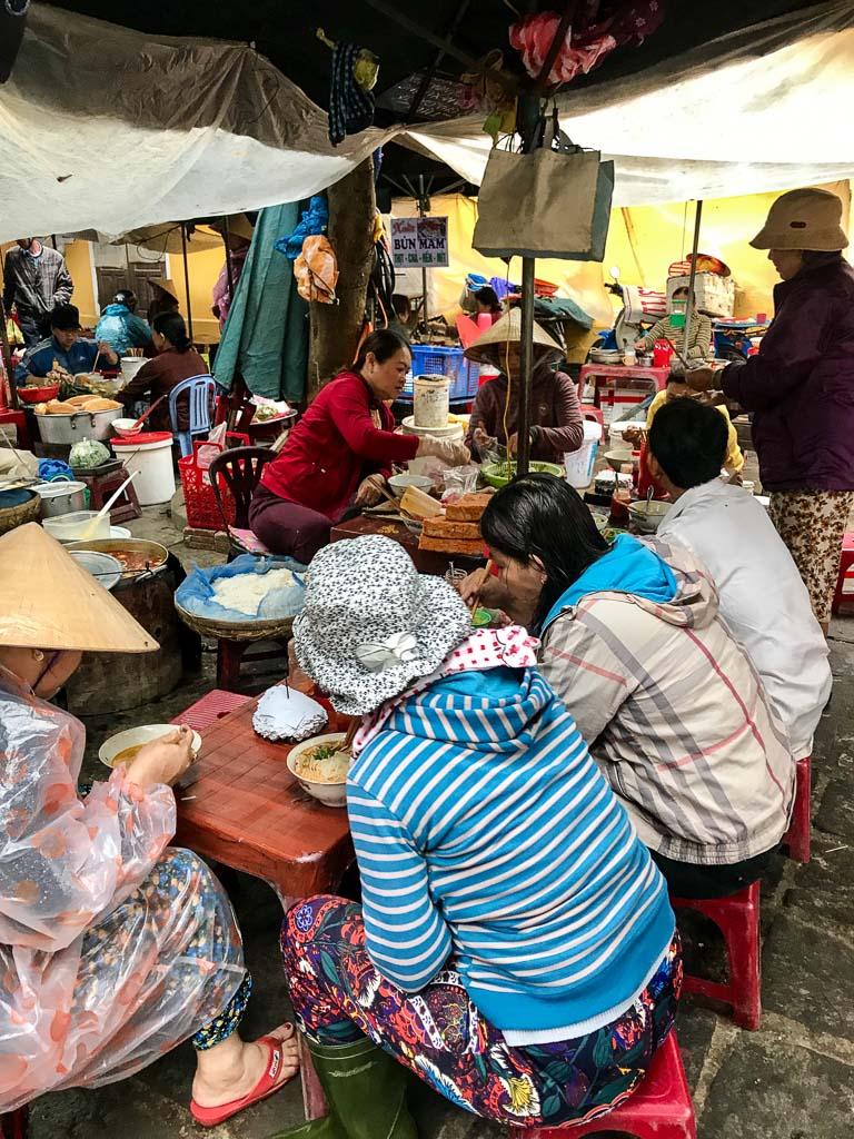 Market meals in Hoi An, Vietnam