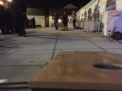Joe and I always kick butt at cornhole. We should really invest in a set.