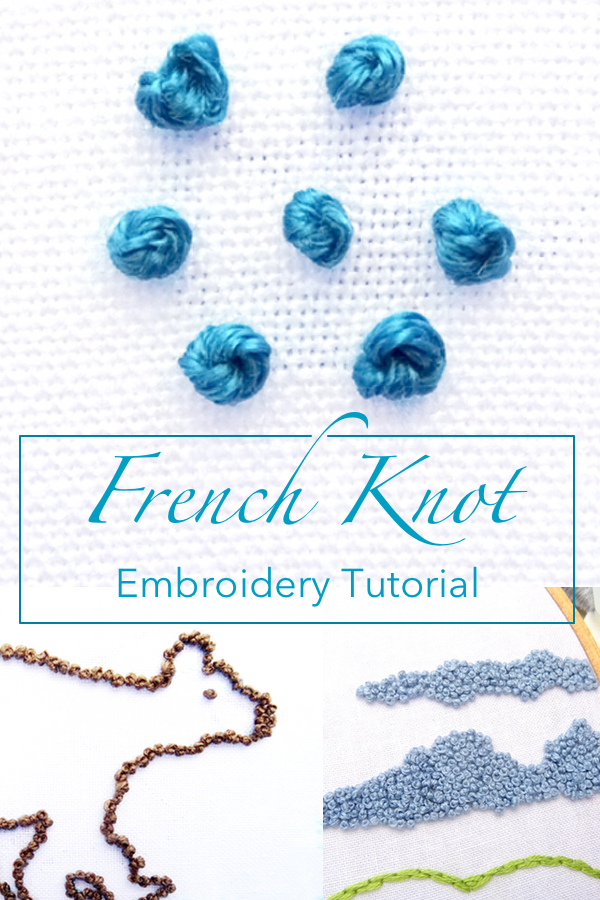 French Knot : french, French, Embroidery, Tutorial, Wandering, Threads