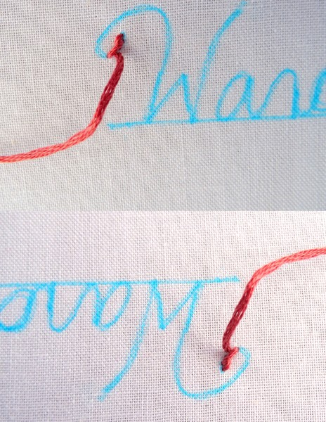 Best Embroidery Stitch For Letters : embroidery, stitch, letters, Embroider, Letters, {Part, Wandering, Threads, Embroidery