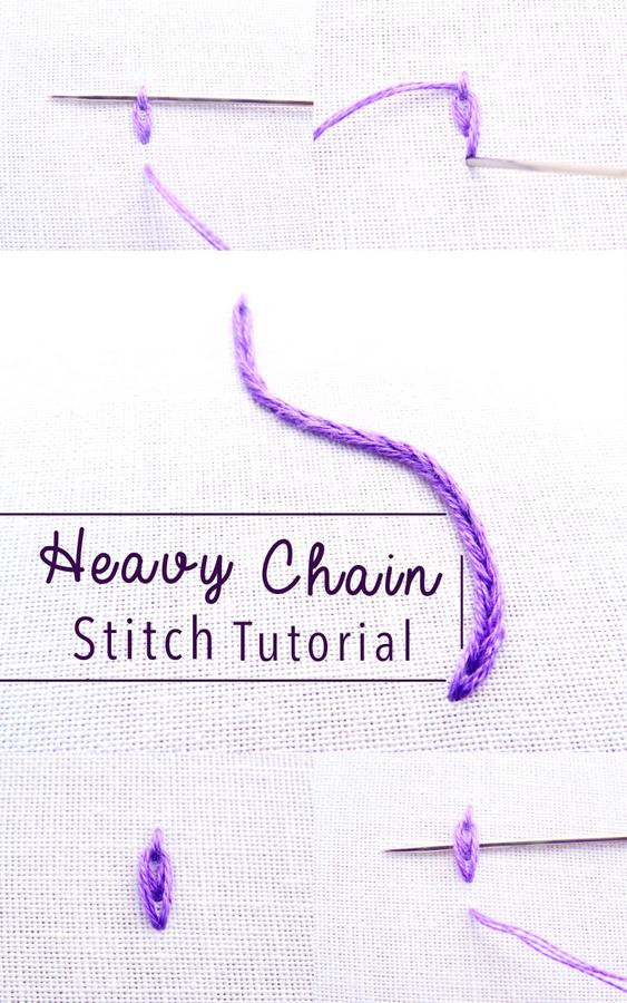 Chain Stitch Embroidery : chain, stitch, embroidery, Heavy, Chain, Stitch, Embroidery, Tutorial, Wandering, Threads