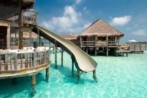Slide with Water Villas Maldives Resorts