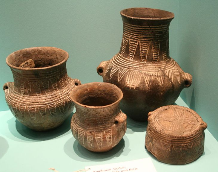 Corded Ware Pottery