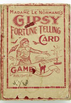 gipsy fortune telling card game sign