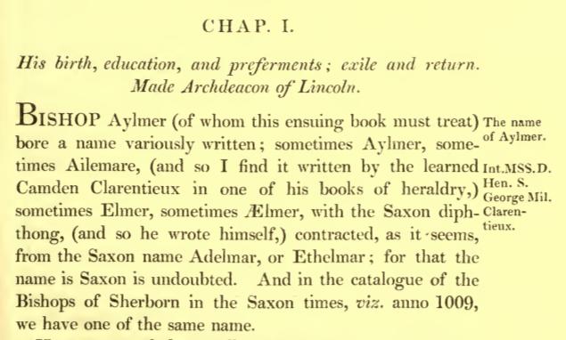 segment of biography of Bishop John Aylmer