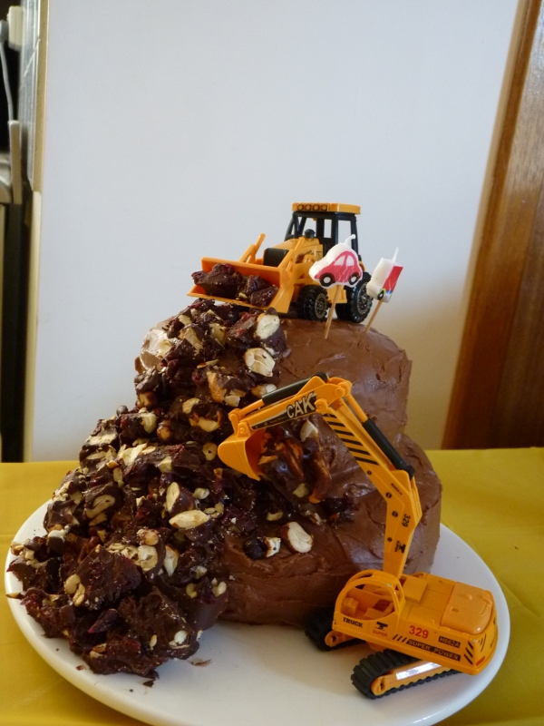 2nd birthday party  diggers and dump trucks  Wandering