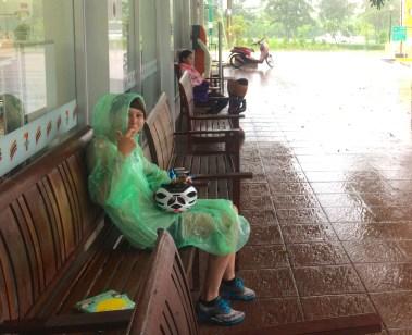 Monsoon rain thailand cycle touring