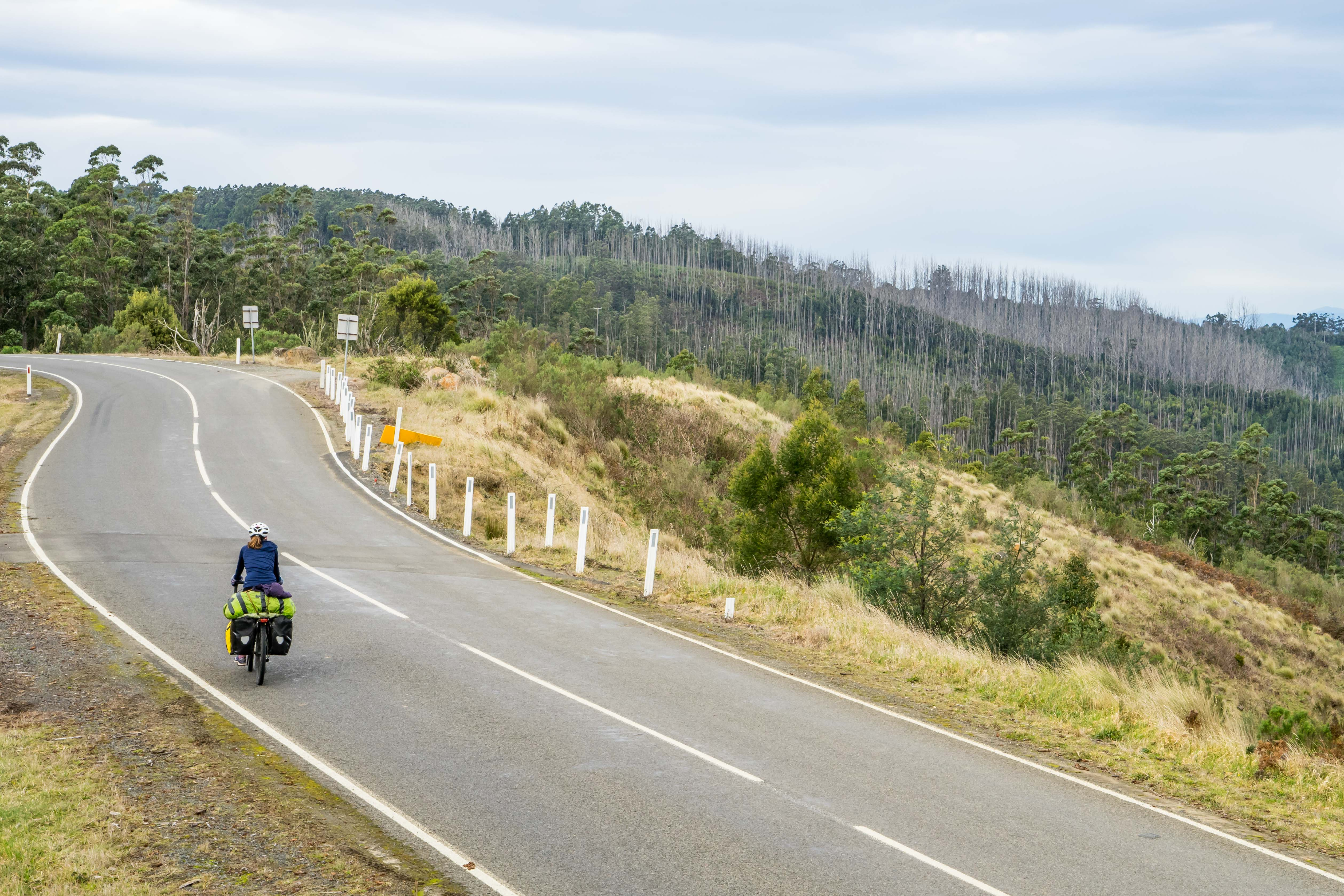 Mount Tassie australia cycle touring