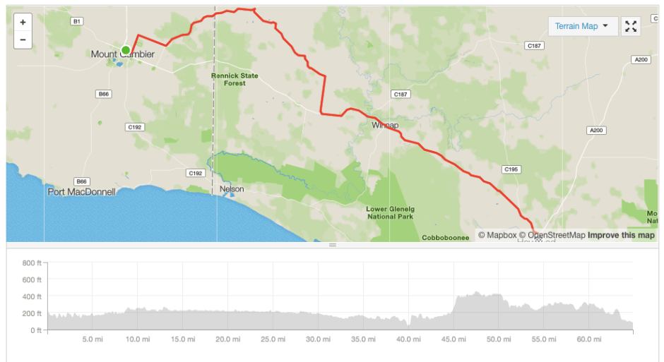 Mount Gambier to Dartmoor