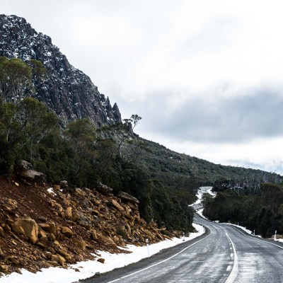 Central Plateau winter Tasmania cycle touring