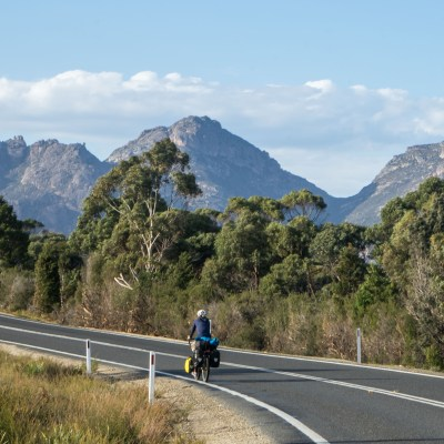 The Hazards Coles Bay Freycinet cycle touring