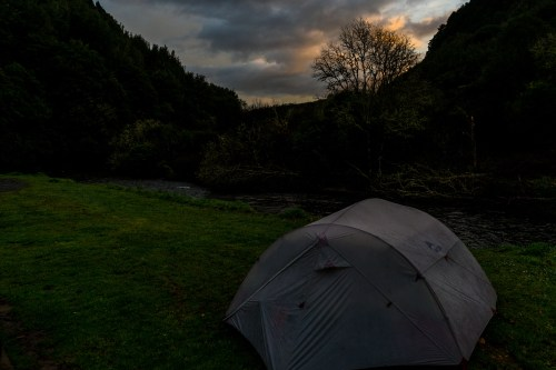 Camping by the river Te Kuiti New Zealand