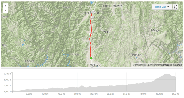 Anning to Chengxiang cycle route Strava