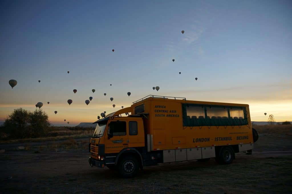 What is overlanding? It's travelling to place like Cappadocia and enjoying magical sunrises like this one.