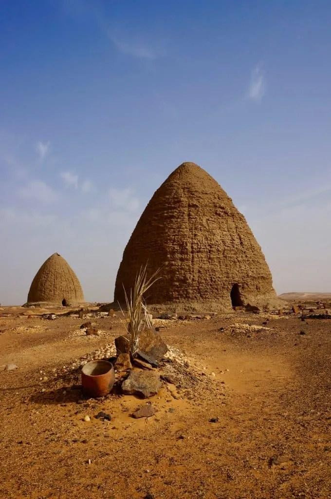 See Muslim tombs at Old Dongola
