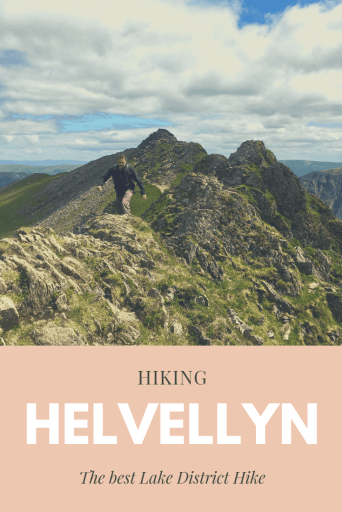 Striding Edge to the summit of Helvellyn is one of the best Lake District Hikes