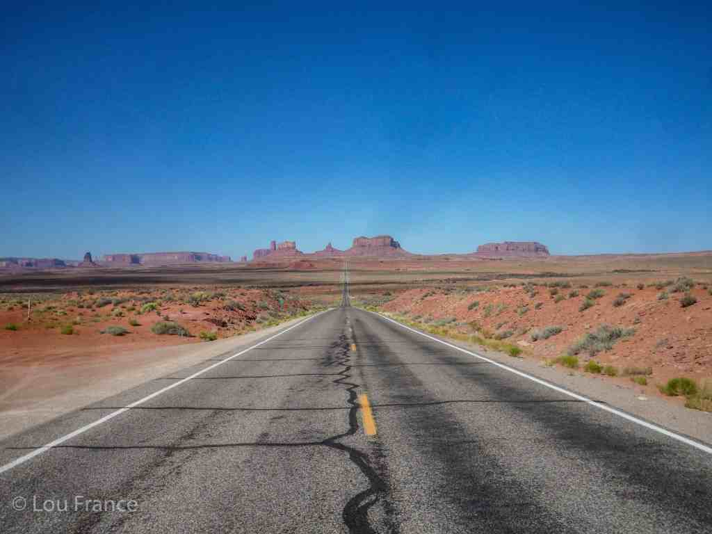 One of the best ways to see Monument valley is from the Forest Gump viewpoint