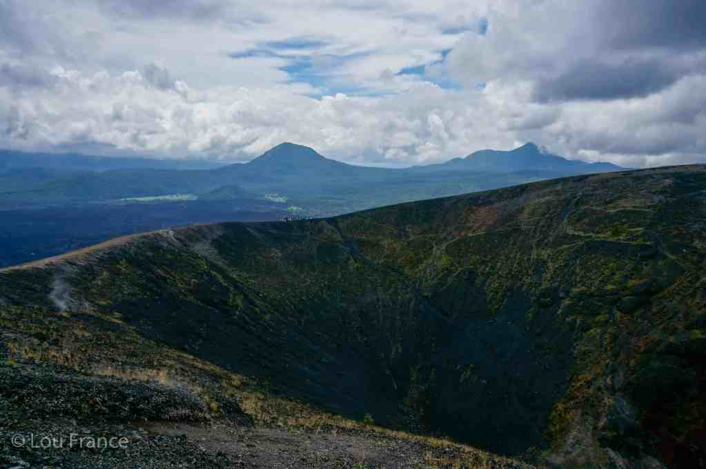 The crater of Paricutin volcano