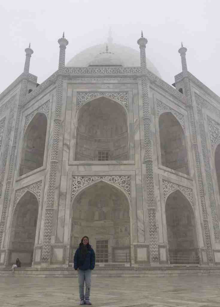 A down jacket was much needed for my visit to the Taj Mahal in December