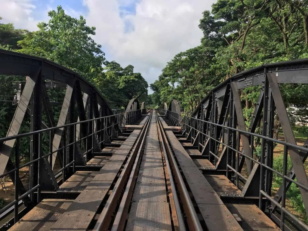 The Death Railway Bridge is a popular dark tourism destination in Thailand