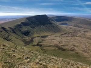 Picws Du mountain and Llyn y Fan Fach lake