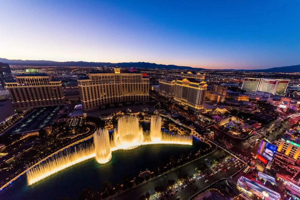 Las Vegas is the first stop on a  southwest road trip of the USA